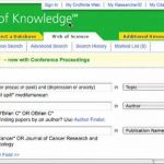 Web of Knowledge Literature Search